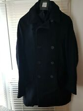 JASPER CONRAN DARK NAVY WOOL REEFER PEA COAT JACKET SIZE SMALL BNWT
