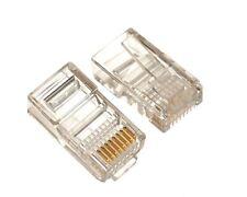 Packet Of RJ45 Connectors For Network Cat5 Cat5e Cat6e Lan Crimps Cover. 0157