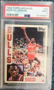 1992 Topps Archives Michael Jordan #52 PSA 9 Mint New Holder Just Graded!