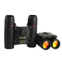 Day Night Vision Binoculars 30 x 60 Zoom Outdoor Travel Folding Telescope XQO