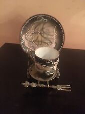 Vintage Tea Cup With Stand And Fork Made In Occupied Japan RARE!!!