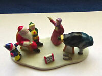 LEMAX Christmas Porcelain Figures Santa at store with photographer
