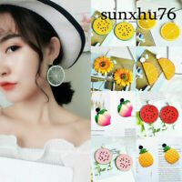 Fashion Women Boho Girls Party Earrings Jewellery Acrylic For Fruit Style Big