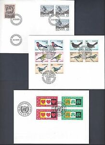 SWEDEN 1970's COLLECTION OF 14 FDCs BIRDS SPORTS VARIOUS TOPICS