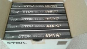 TDK MA-XG 90 Super Metal Box of 5, Brand New in Box, Courier Delivery