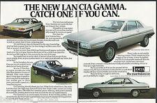 1980 LANCIA GAMMA 2-page advertisement, British advert, Gamma Gran Turismo & Ber