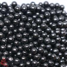 BLACK SUGAR PEARLS BALLS 4MM EDIBLE SPRINKLES CACHOUS CUPCAKE CAKE DECORATION