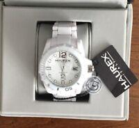 Haurex Italy White w/ Silver Watch W7364UWW NWT