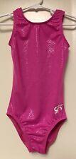 New listing GK Elite Gymnastics Leotard CM Child Medium Bright Pink snake nylon fabric Leo