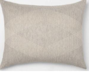 "Project 62 + Nate Berkus Cotton Jacquard Standard Sham Gray 20"" x 26"" New"