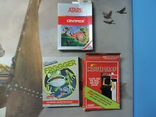 Atari Box Lot of 3 Mouse Trap Frogger Centipede with Comic Poster Manual No Game