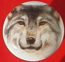 Ceramic cabinet Knobs Knob Wolf Head Shot Wildlife Lobo wolves Limited