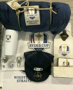 MEGA PACKAGE 2020 2021 Ryder Cup Flags, Blanket, Ball Markers, Hat, ++ BRAND NEW