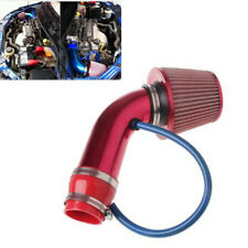 Red 3'' Car Cold Air Intake System Turbo Induction Pipe Tube + Cone Air Filter