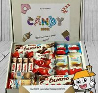 KINDER Chocolate Bueno Hamper Sweet Gift Box Present Birthday Day Personalised
