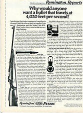 1971 Print Ad of Remington Reports Model 700 BDL Rifle & 17 Caliber Bullet