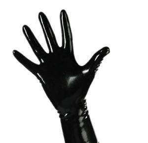 Long Latex Gloves Fetish Bondage Rubber Gummy Opera Catsuit Kinky Sexy UK Red