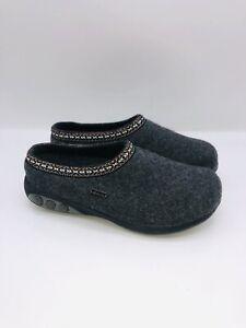 THERAFIT Shoe WMN Heather Indoor/Outdoor Wool Clog Slipper Grey EUR 38 US 7.5-8