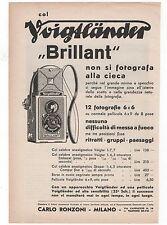 Pubblicità epoca 1932 VOIGTLANDER BRILLANT FOTO advert werbung publicitè reklame
