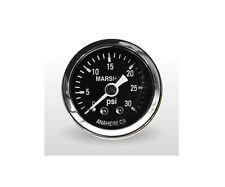 "Marshall Gauge 0-30 Psi Fuel / Oil Pressure Gauge Black 1.5"" Diameter (1/8"" NPT)"