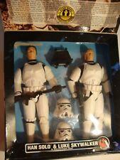 """Star Wars collectors series Han and Luke in Stormtrooper suit 11"""" action figures"""