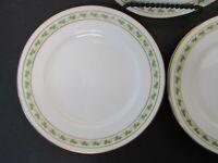 """Set of 4 C. Ahrenfeldt Limoges France Depose 6 1/4"""" Bread & Butter Plates Leaves"""