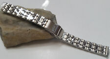 14 mm Vintage Speidel Stainless Steel Silver Tone Links Watch Band Nos