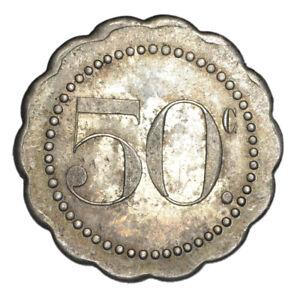 FRANCIA Masonic token Jeton maçonnique - Orient de Paris LE LIBRE EXAMEN 50c