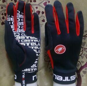 Black & Red Brand New Castelli Scalda Winter Gloves Size Extra Large (XL)