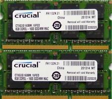 16 GB (2 x 8 GB) CRUCIAL DDR3 PC3-12800 1600 MHz for Apple iMac macbook mac mini