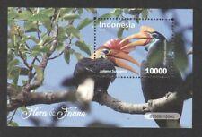 INDONESIA 2018 FLORA & FAUNA HORNBILL BIRD SOUVENIR SHEET OF 1 STAMP IN MINT MNH