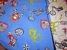 SILVER STAR CHOPPERS  2 pc Twin FLAT & FITTED bed sheets
