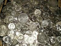 $4 FACE 90% SILVER US COINS ~ALL 1964 & OLDER AU/BU & PROOFS & A SILVER DOLLAR!
