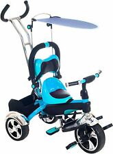 Convertible Stroller Tricycle 4 in 1 Trike Child Toddler Safe Push Bar Comfort