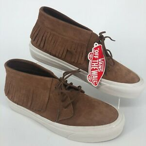 Vans Off The Wall Brown Moccasin Lace Up Unisex Shoes MEN SIZE 8.5 WOMEN SIZE 10