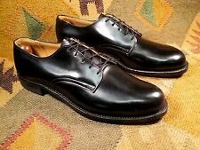 New Endicott Johnson Military Black Dress Leather Shoes Size 9.5N made in Usa