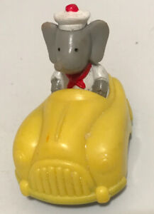 Babar the Elephant Arby's Kids Meal Pull Back 1992 Toy Yellow Car