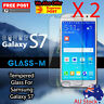 """2 X Tempered Glass For Samsung Galaxy S7 5.1"""" Screen Protector Smart phone"""