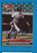 TED WOOD Autograph Auto Signed 1992 ULTRA GIANTS