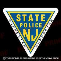 4 inch New Jersey State Police Supporter Interceptor, Ford Crown Victoria Decal