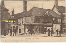"""Luton C1910 People in front of Shops, """"Bit of Old Luton"""" series, Bedfrodshire"""