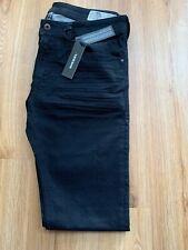 Men's Jeans W30 X L32 Thavar - Diesel 0R84A In Black Superb Slim Skinny