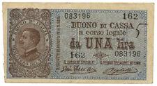 ITALY, ITALIA - 1 Lira 28. 12. 1917. P36b. (T015)
