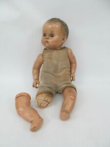 Antique Composition Baby Doll w/ Sleepy Eyes R&B Arranbee (For Restore)