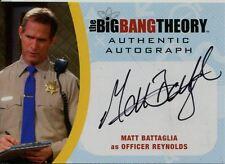 Big Bang Theory Seasons 6 & 7 Autograph Card MBA2 Matt Battaglia as Officer