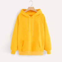 Women's Long Sleeve Hoodie Sweatshirt Hooded Pullover Tops Blouse With Pocket P