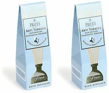 2x Price's Anti-Tobacco Reed Diffuser - Eliminates Tobacco and Smoking Odours