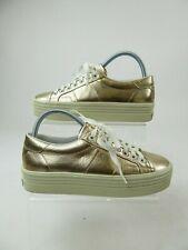 Saint Laurent Paris Metallic Rose Gold Leather Trainers Sneakers Size UK 3 EU 36