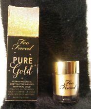 New! TOO FACED Pure Gold Ultra Fine Face & Body Glitter NIB✨