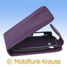 Flip Case Etui Handytasche Tasche Hülle f. Samsung GT-S5312 / S5312 (Violett)